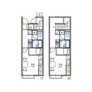 1K Apartment in Asahicho - Funabashi-shi Floorplan