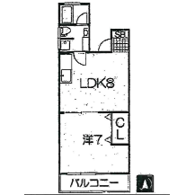 1LDK Mansion in Togoshi - Shinagawa-ku Floorplan