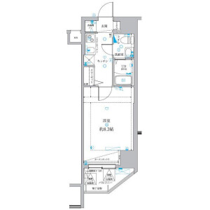 1K Apartment in Toneri - Adachi-ku Floorplan
