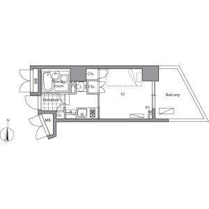 1K Mansion in Takada - Toshima-ku Floorplan