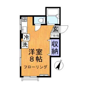 1R Mansion in Kameari - Katsushika-ku Floorplan