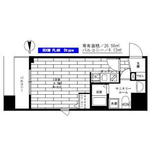 1R Mansion in Namiki - Kawaguchi-shi Floorplan