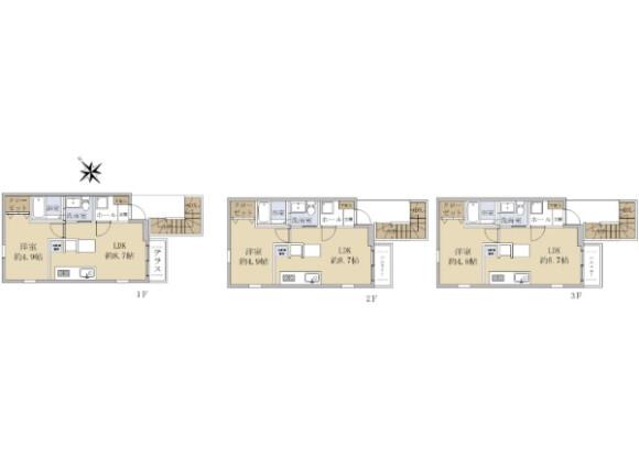 Whole Building Apartment to Buy in Yokohama-shi Tsurumi-ku Floorplan