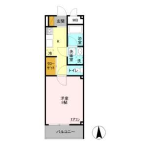 1K Mansion in Shintomicho - Kawagoe-shi Floorplan
