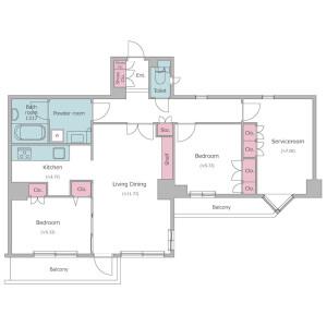 2SLDK Mansion in Otsuka - Bunkyo-ku Floorplan