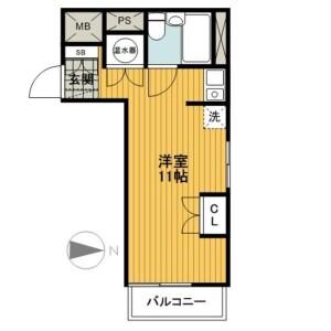 1R Mansion in Tsuruyacho - Yokohama-shi Kanagawa-ku Floorplan