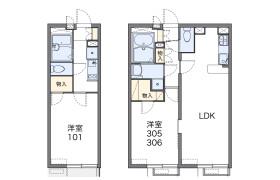 大田区西六郷-1K公寓大厦