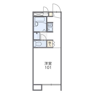1K Apartment in Kumagawa - Fussa-shi Floorplan