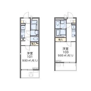 品川区南品川-1K公寓大厦 楼层布局