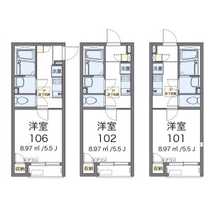 1K Apartment in Kaminoge - Setagaya-ku Floorplan