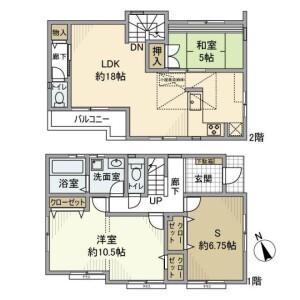 2SLDK House in Kugayama - Suginami-ku Floorplan