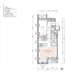 1LDK {building type} in Minamioi - Shinagawa-ku Floorplan