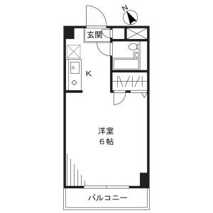 1R Mansion in Kamishinjo - Kawasaki-shi Nakahara-ku Floorplan