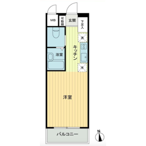 1R {building type} in Matsugaya - Taito-ku Floorplan