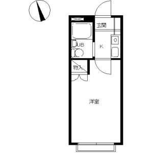 1K Apartment in Higashikubocho - Yokohama-shi Nishi-ku Floorplan