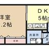 1DK マンション 京都市中京区 間取り