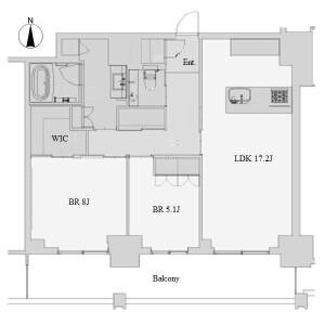 2LDK Mansion in Sakae - Nagoya-shi Naka-ku Floorplan