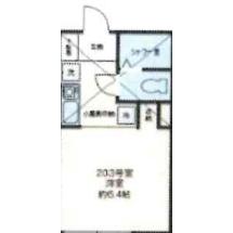 1K Apartment in Kaitaicho - Shinjuku-ku Floorplan