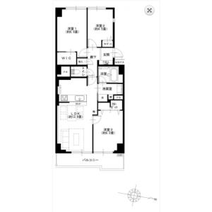 3LDK Apartment in Shiohama - Koto-ku Floorplan