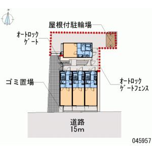 世田谷區代沢-1K公寓 房間格局
