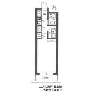 1K Mansion in Tsunashimahigashi - Yokohama-shi Kohoku-ku Floorplan
