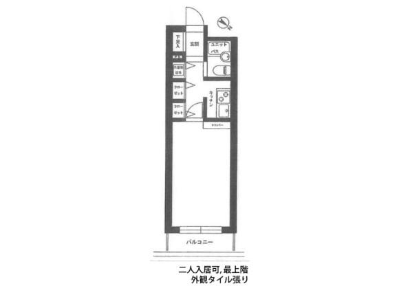 在横濱市港北區內租賃1K 公寓大廈 的房產 房間格局