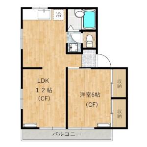 1LDK Apartment in Wakaba - Shinjuku-ku Floorplan