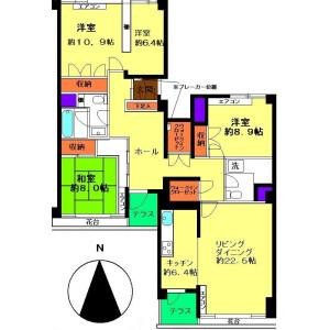 4LDK Mansion in Kasuga - Bunkyo-ku Floorplan