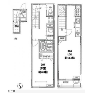 1LDK Mansion in Futaba - Shinagawa-ku Floorplan