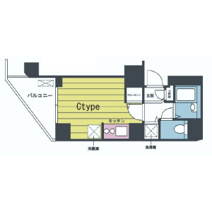 1K Mansion in Nishigotanda - Shinagawa-ku Floorplan