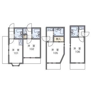 1R Apartment in Nishisugamo - Toshima-ku Floorplan
