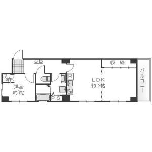 1LDK Apartment in Nampeidaicho - Shibuya-ku Floorplan