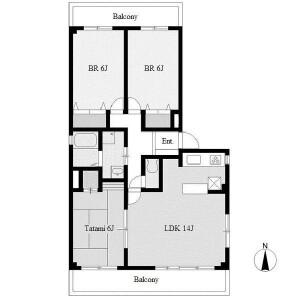 2LDK Mansion in Takayashiro - Nagoya-shi Meito-ku Floorplan