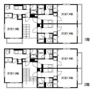 Whole Building {building type} in Fukuei - Ichikawa-shi Floorplan