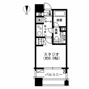 1K Mansion in Ichigayahommuracho - Shinjuku-ku Floorplan