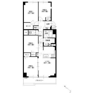 4LDK Apartment in Shiohama - Koto-ku Floorplan