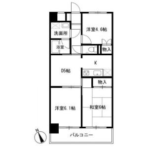 3DK Apartment in Takatahigashi - Yokohama-shi Kohoku-ku Floorplan
