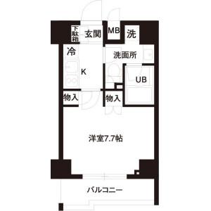 港区高輪-1K公寓大厦 楼层布局