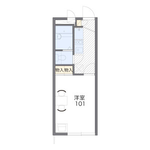 1K Apartment in Minoshima - Fukuoka-shi Hakata-ku Floorplan