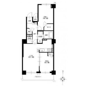 2LDK {building type} in Kaminokicho - Yokohama-shi Kanagawa-ku Floorplan