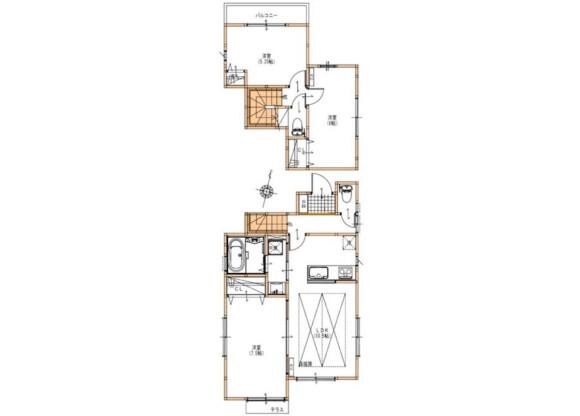 3LDK House to Rent in Meguro-ku Floorplan