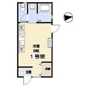 1R Apartment in Kakinokizaka - Meguro-ku Floorplan