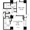 1LDK 맨션 to Rent in Shibuya-ku Floorplan
