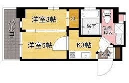 2K {building type} in Kiyokawa - Fukuoka-shi Chuo-ku
