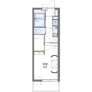 1K Mansion in Naka - Tamana-shi Floorplan