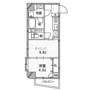 1DK Apartment in Shirokane - Minato-ku Floorplan