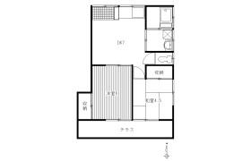 2DK Terrace house in Suenaga - Kawasaki-shi Takatsu-ku