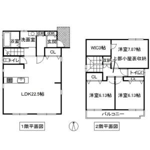 名古屋市港区 - 西川町 獨棟住宅 3SLDK 房間格局