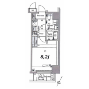 1R Mansion in Shibaura(1-chome) - Minato-ku Floorplan