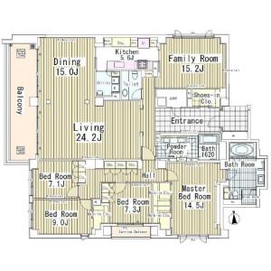 5LDK Mansion in Takanawa - Minato-ku Floorplan